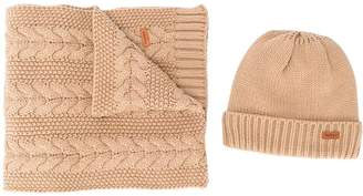Barbour knitted hat and scarf set