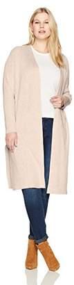 Jones New York Women's Plus Size Open Front Duster Cardigan