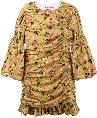 Molly Goddard Judy floral print gathered mini dress