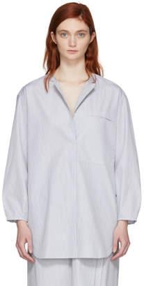Studio Nicholson Black and White Oversized Double-Split Shirt