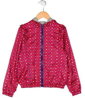 Fendi Girls' Printed Hooded Jacket