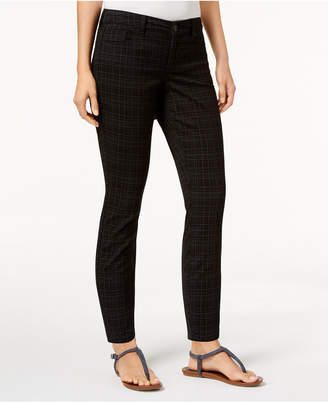 Style&Co. Style & Co Petite Plaid Skinny Jeans, Created for Macy's