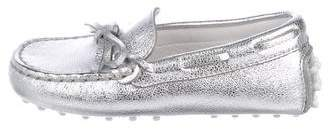 Tod's Girls' Metallic Leather Loafers