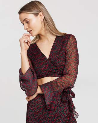 Lulu and Rose Dahlia Tie Front Top