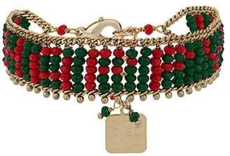 Rosantica beaded adjustable bracelet