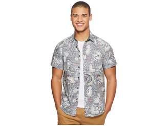 VISSLA Mongos Short Sleeve Printed Woven Top Men's Clothing