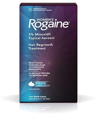 Rogaine Women's Treatment for Hair Loss and Hair Thinning Once-A-Day Minoxidil Foam