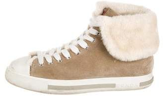 Prada Sport Suede Lace-Up Sneakers