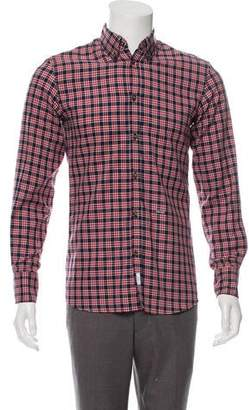 DSQUARED2 Plaid Wool-Blend Shirt