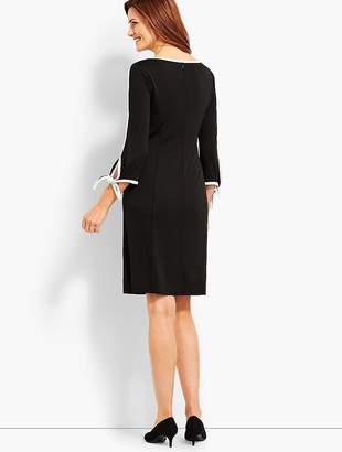 Talbots Elbow-Sleeve Jersey Dress