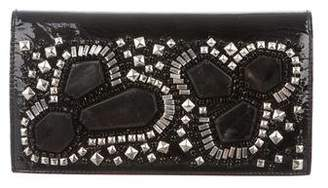 Gucci Patent Beaded Clutch