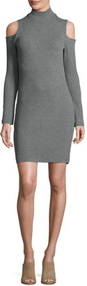 Splendid Cold-Shoulder Mock-Neck Sweaterdress $148 thestylecure.com