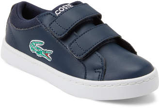 Lacoste Toddler Boys) Navy & White Straightset Low-Top Sneakers