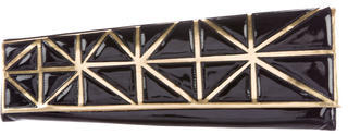 Christian Louboutin Christian Louboutin Patent Leather Geometric Clutch