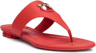 Salvatore Ferragamo Enfola coral leather sandals