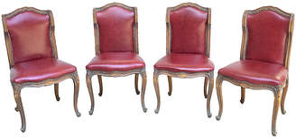 One Kings Lane Vintage Red Leather Gaming Chairs - Set of 4 - Vermilion Designs