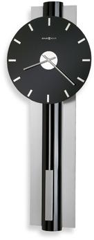 Hudson Black Nickel 33 1/2-Inch Wall Clock