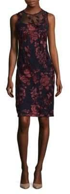 Donna Ricco Embroidered Mini Dress