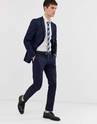 Esprit slim fit suit trouser in navy