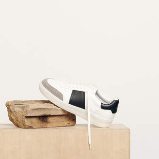 Sandro Two-Tone Leather Sneakers
