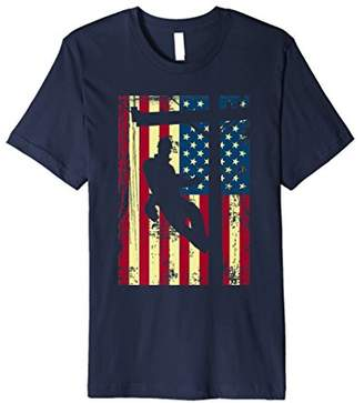 Lineman American Flag Shirt | Electric Cable Lineman Gift
