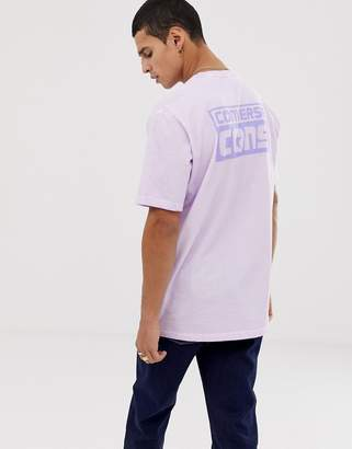 Converse Cons Washed T-Shirt With Back Print In Purple 10005701-A02