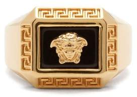 Versace Medusa Head Ring - Mens - Gold