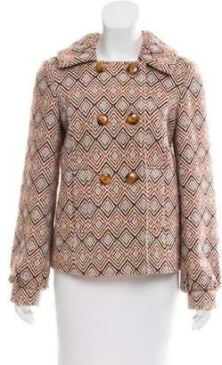 Tibi Double-Breasted Pattern Jacket