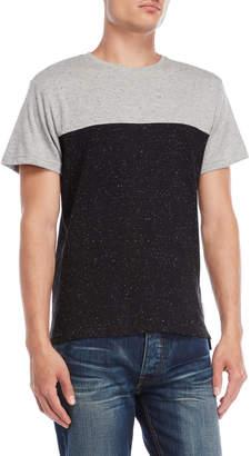 Bellfield Black & Grey Short Sleeve Postoda Tee