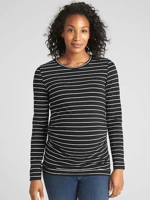 Gap Maternity Pure Body Stripe Crewneck T-Shirt
