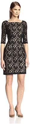 Society New York Women's Illusion Lace Dress