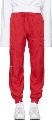 Vetements Red Reebok Edition Biker Track Pants $860 thestylecure.com