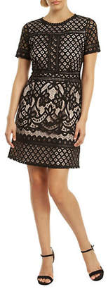 Dex Crochet Contrast Lining Dress