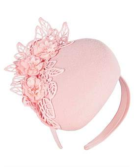 Fillies Collection Pink Winter Pillbox With Black Lace
