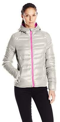 Lark & Ro Women's Packable Down Hooded Jacket