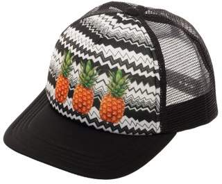 No Boundaries Women's Pineapple Snapback Hat with Print Foam Front Panel and Mesh Crown