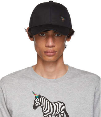 Paul Smith Black Zebra Baseball Cap