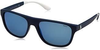 Polo Ralph Lauren Men's 0Ph4131 566255 Sunglasses, (Navy Blue)