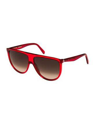 Celine Flattop Gradient Shield Sunglasses, Pink Pattern