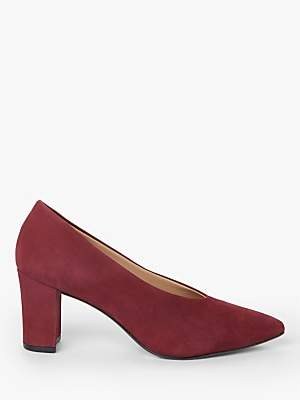 John Lewis & Partners Alannah Suede Court Shoes, Dark Red