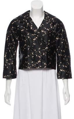 Milly Silk Printed Blazer