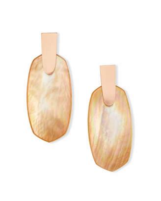 Kendra Scott Aragon Drop Earrings in Rose Gold