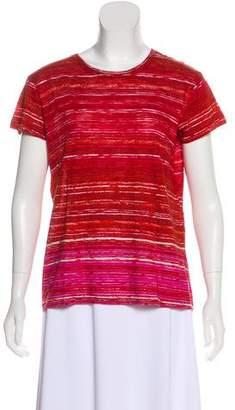 Proenza Schouler Striped Short Sleeve T-Shirt