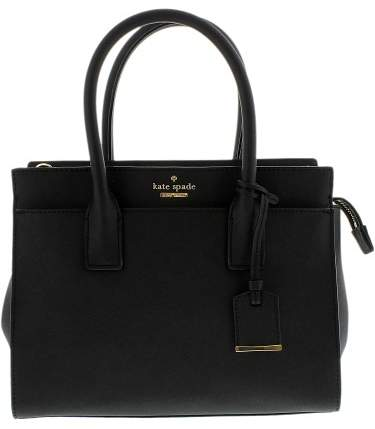 Kate Spade Women's Cameron Street Small Candace Satchel Leather Shoulder Bag Tote - Black - BLACK - STYLE