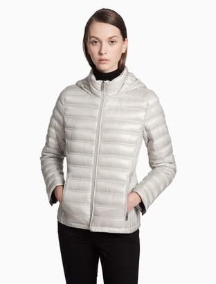 Calvin Klein packable hooded short jacket