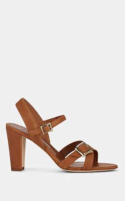 Manolo Blahnik Women's Rioso Leather Sandals - Cognac Leather