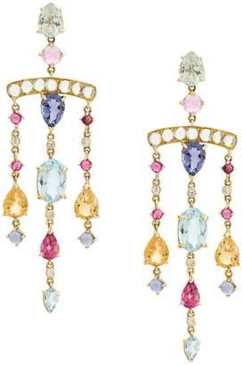 Dubini Theodora Chandelier 18kt gold earrings