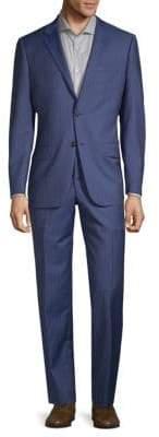Hickey Freeman Regular-Fit Pinstripe Wool Suit