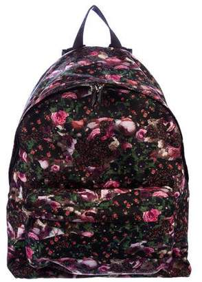 Givenchy Floral Leather-Accented Backpack