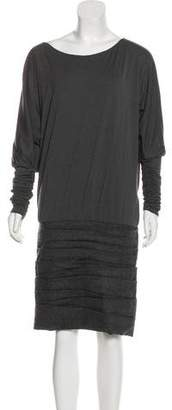 Jay Ahr Ruched Knee-Length Dress